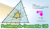 Problema de Geometría 125. Triangulo, Cevianas, Trisección de los lados, Hexagono Estrellado, 7/100, Área.