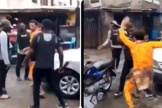 #ENDSARS: SARS Officers Assaults Man In Ebute Metta (Video)