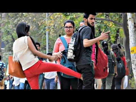 Hot Girl Kicking Guy Prank | AVRprankTV | Pranks In India