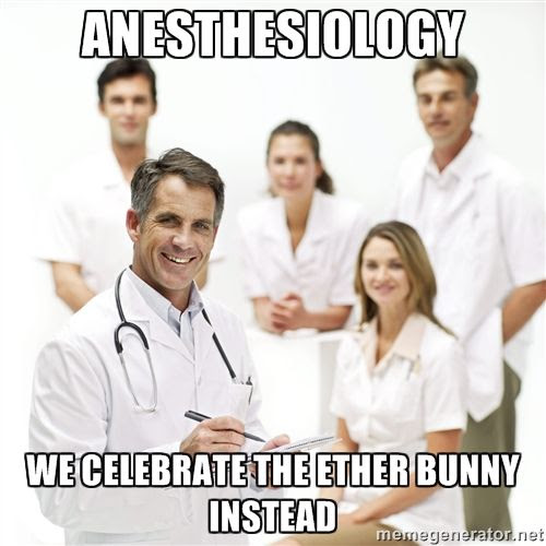 Anesthesiology.  We celebrate the ether bunny instead doctor ecard meme humor photo Etherbunny_zps81d438c0.jpg