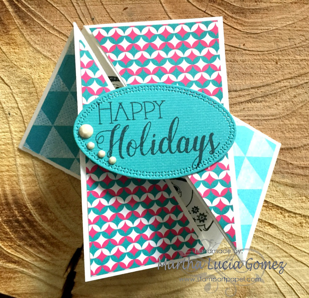 TWIST GATE FOLD HOLIDAY CARD
