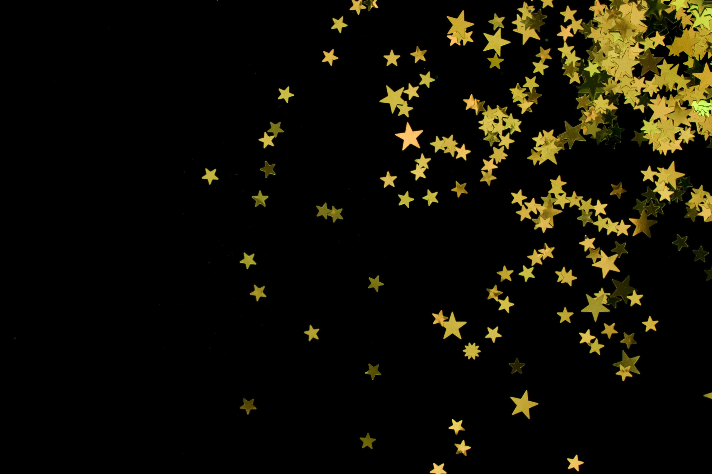 Black Background Gold Stars