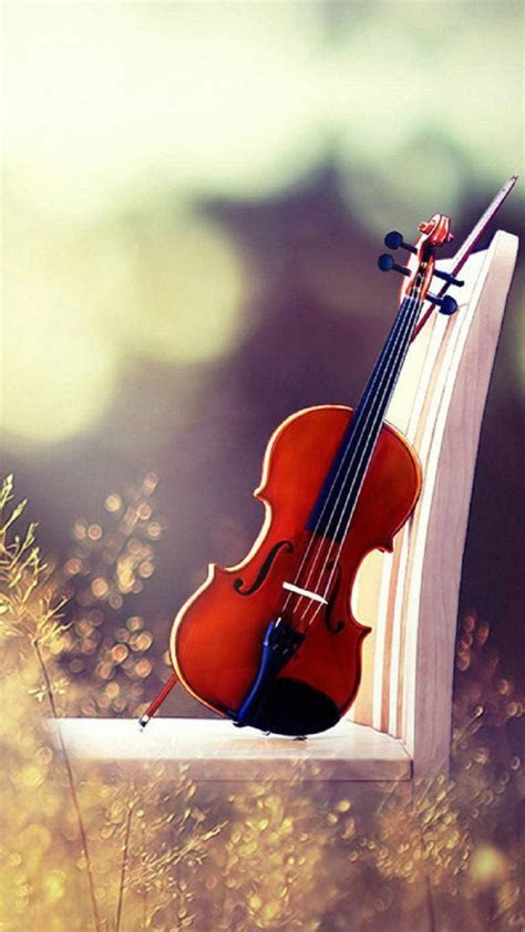 Landscape with a violin   iPhone Wallpaper