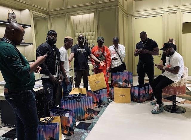 Nigerians Reacts As Davido Takes His DMW Crew Shopping In Dubai