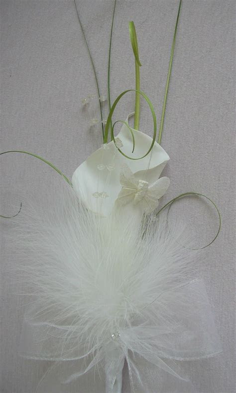 ARTIFICIAL WHITE FOAM CALLA LILY WEDDING FLOWERS BOUQUET