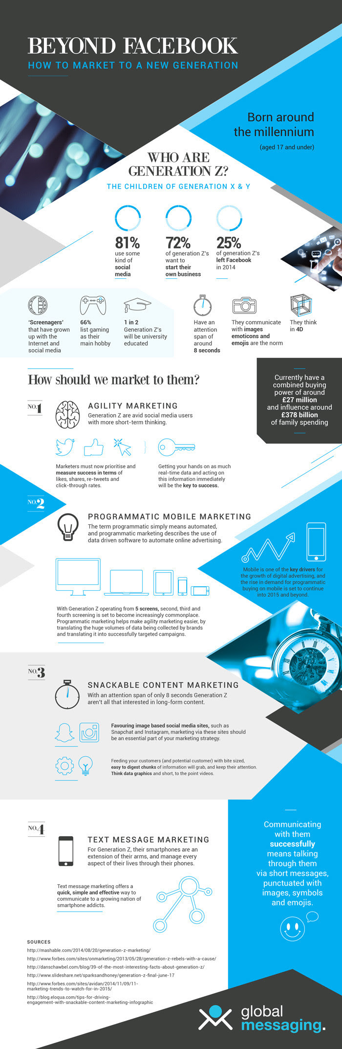Beyond Facebook - Marketing To A New Generation - #infographic