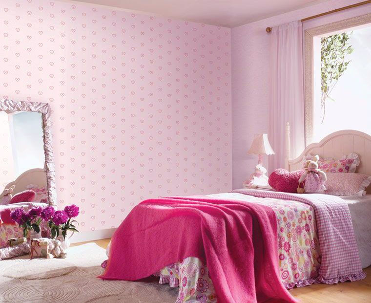 Fresh Colorful Wallpaper for Kids Room Cute Baby Pink Wallpaper ...