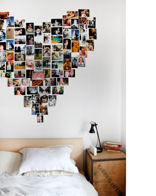Heart Shaped Polaroid Collage Traceytilleycom