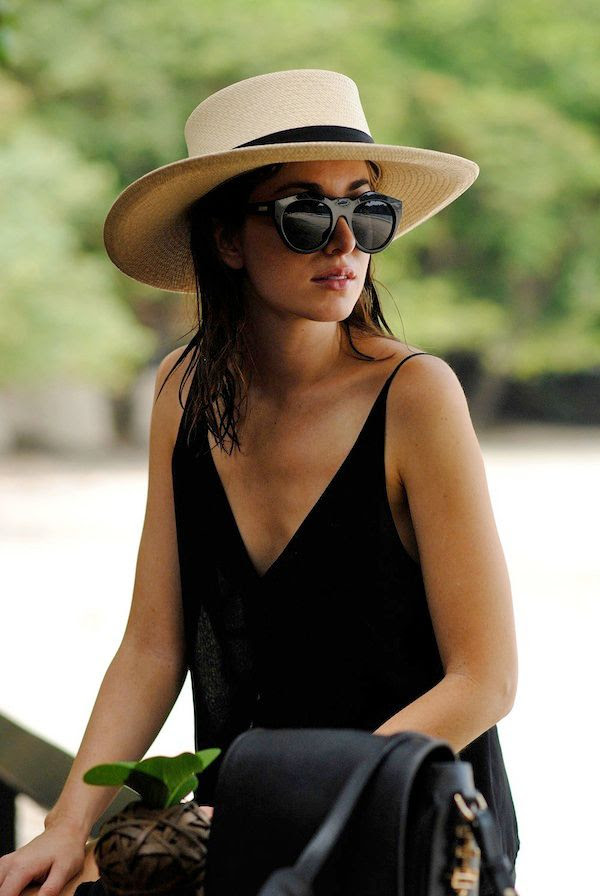 Le Fashion Blog -- Beach Vacation Style Inspiration -- Straw Hat, Le Specs Neo Noir Sunglasses and J Brand Lucy Camisole -- Via Carmen Of The Chronicles Of Her -- photo Le-Fashion-Blog-Beach-Vacation-Style-Inspiration-Straw-Hat-Le-Specs-Sunglasses-J-Brand-Camisole-Via-Carmen-The-Chronicles-Of-Her.jpg