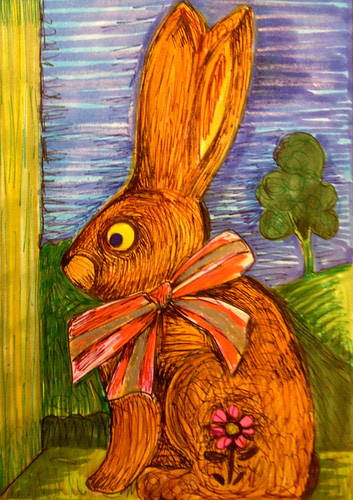 Bunny in a box by Michelle Schamis