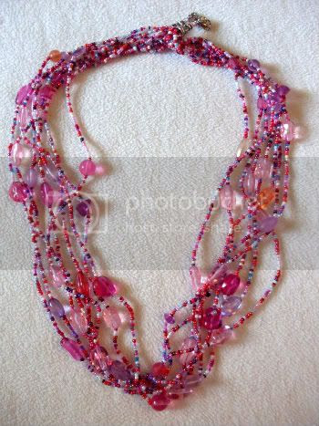 Pink Multistrand Necklace