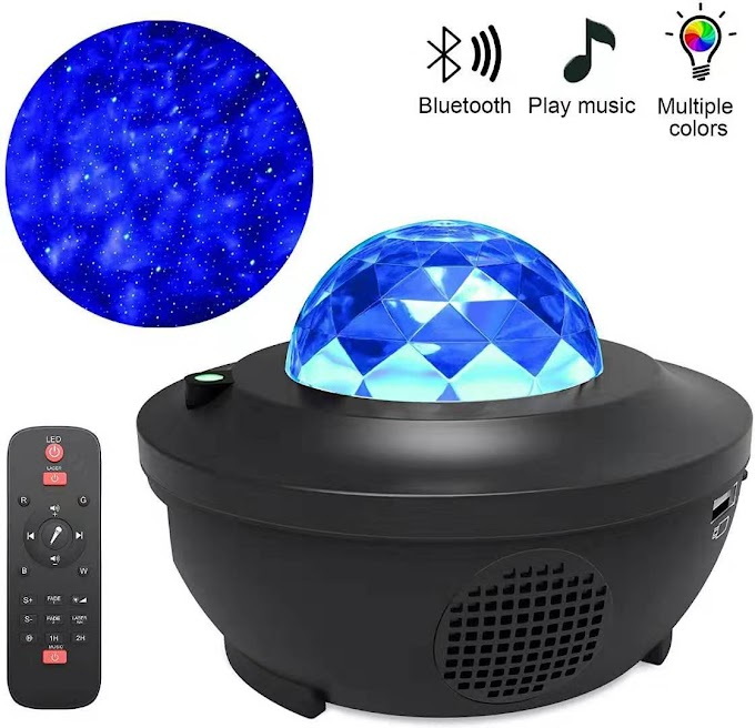 LED Lamp Galaxy Projector Ocean Wave Music Player Remote Star Rotating Night Light For Bedroom