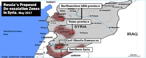 Risultati immagini per de escalation zone siria map