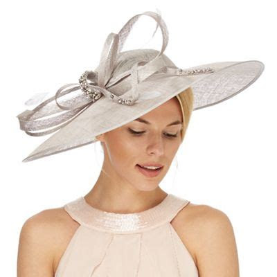 jenny packham grey oversized saucer fascinator