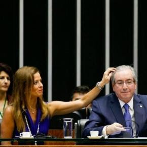 Claudia Cruz e Eduardo Cunha em plenário