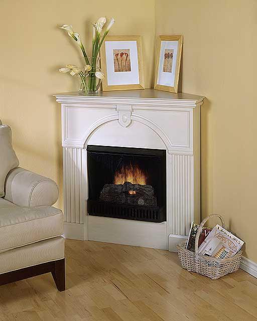 corner fireplace decorating