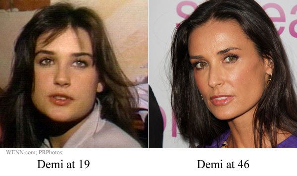 Demi Moore before and after (image hosted by celebitchy.com)