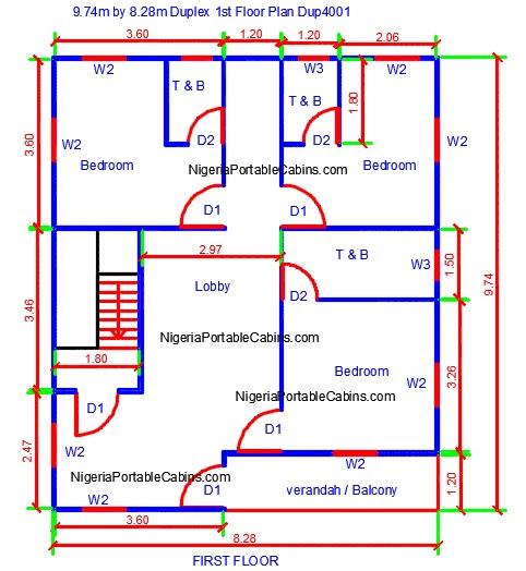 duplex floor plans nigeria