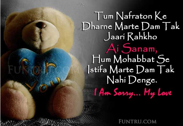 Sorry Shayari मफ शयर Best I Am Sorry Status