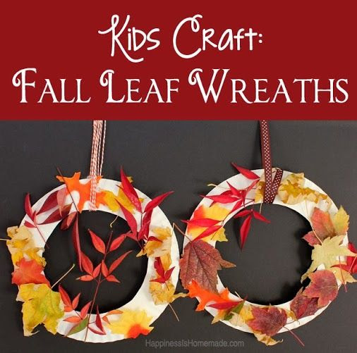 Kids Craft: Fall Leaf Wreaths