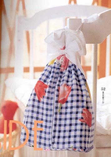 Diaper bag made with a towel