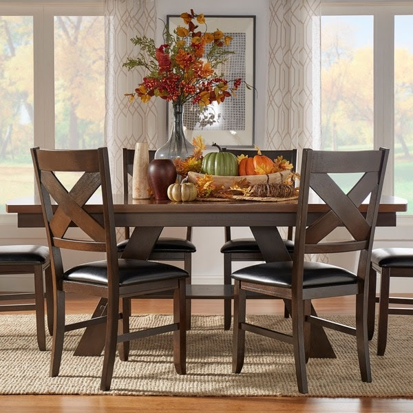 Acadia Dark Brown with UV Coated Light Brown Table Top ...
