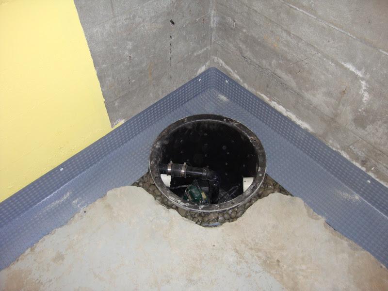 sump pump basin