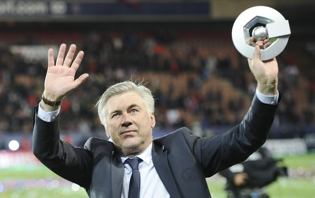 Carlo Ancelotti título do PSG (Foto: EFE)