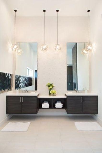 25 Creative Modern Bathroom Lights Ideas You'll Love ...