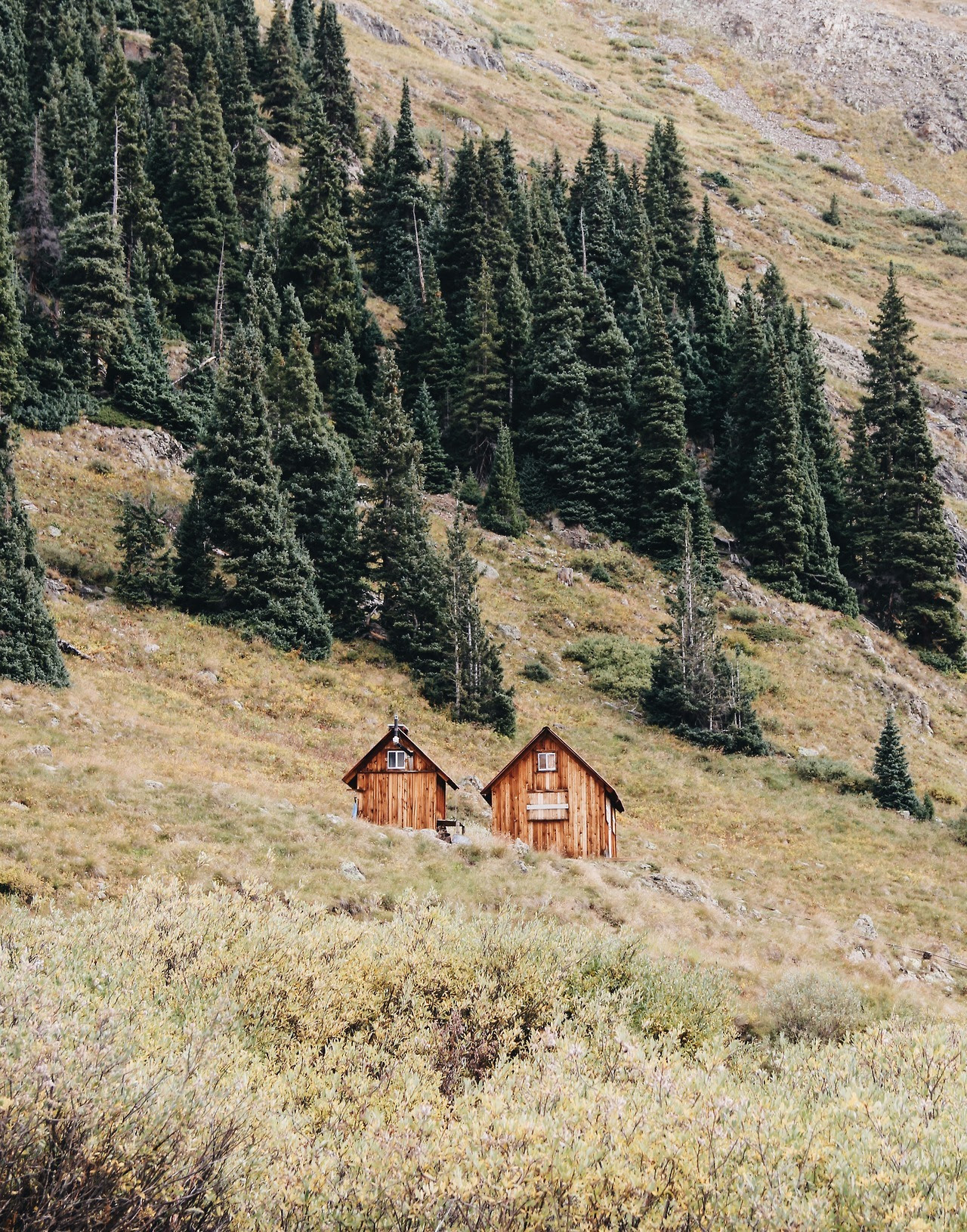 Two-part cabin built next to the ghost town of Animas Forks, Colorado Submitted by Olivia Witt / @oliviaawitt