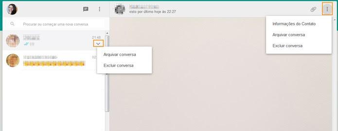 Organizar conversas com amigos no WhatsApp Web (Foto: Reprodução/Barbara Mannara)