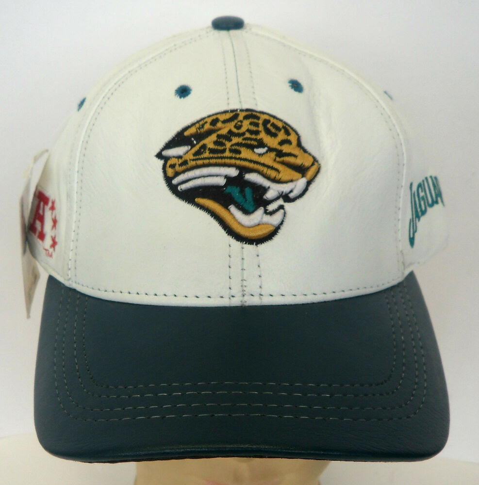 NFL Jacksonville Jaguars Leather Logo Athletic Cap Hat BuckleBack OSFA NEW!  eBay