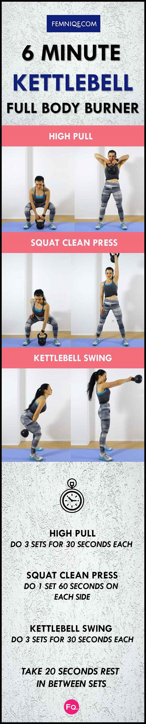 minute kettlebell workout routine burn fat  toned