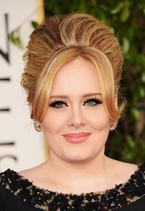 adele golden globe awards hairstyle  classic beehive