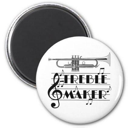 Trumpet Player Treble Maker Magnet