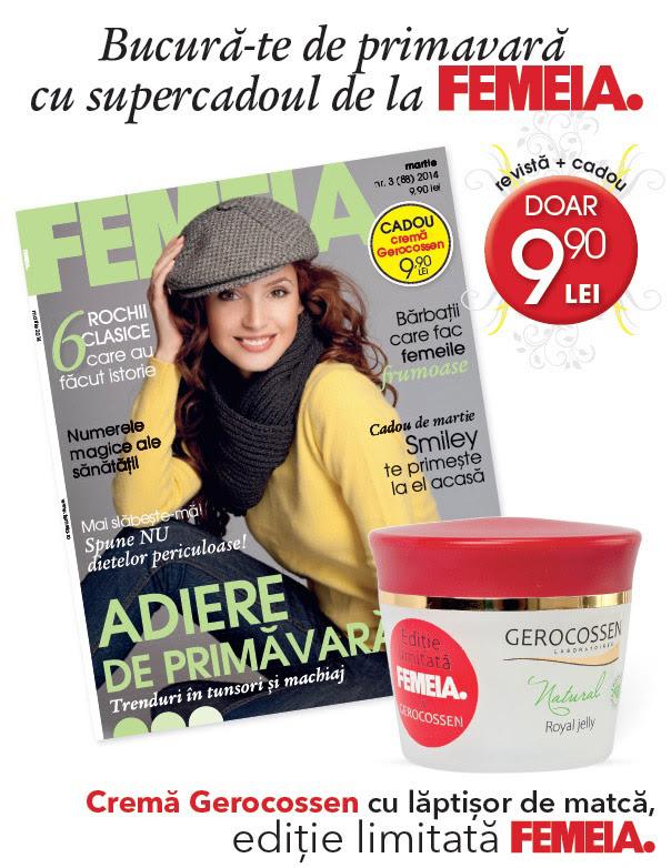 Promo pentru revista FEMEIA. editia Martie 2014
