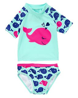 Whale Swim Rash Guard Set Size 2Y $16.88