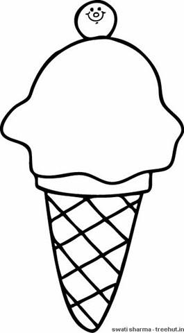 softy ice cream coloring page1  treehutin