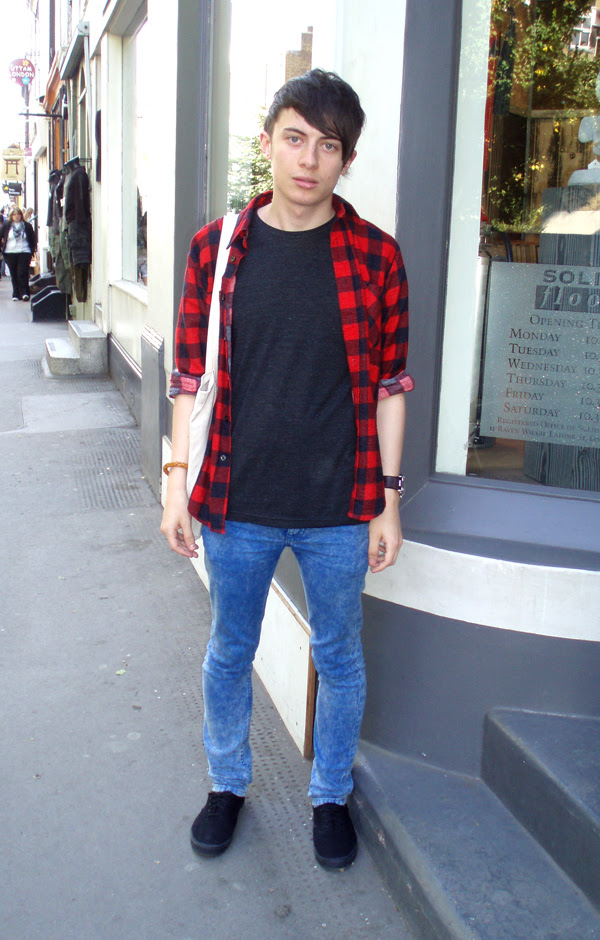plaid shirt boy