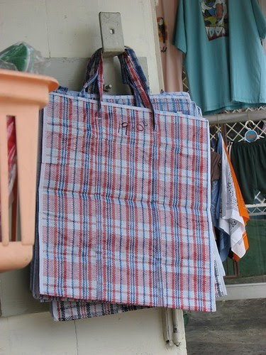Tobago plaid bag, Guyanese Samsonite by Georgia Popplewell