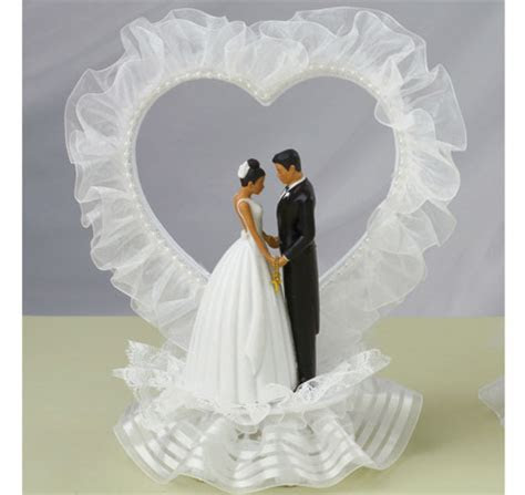 Heart Arch Couples Cake Topper   Bride Groom Cake Toppers