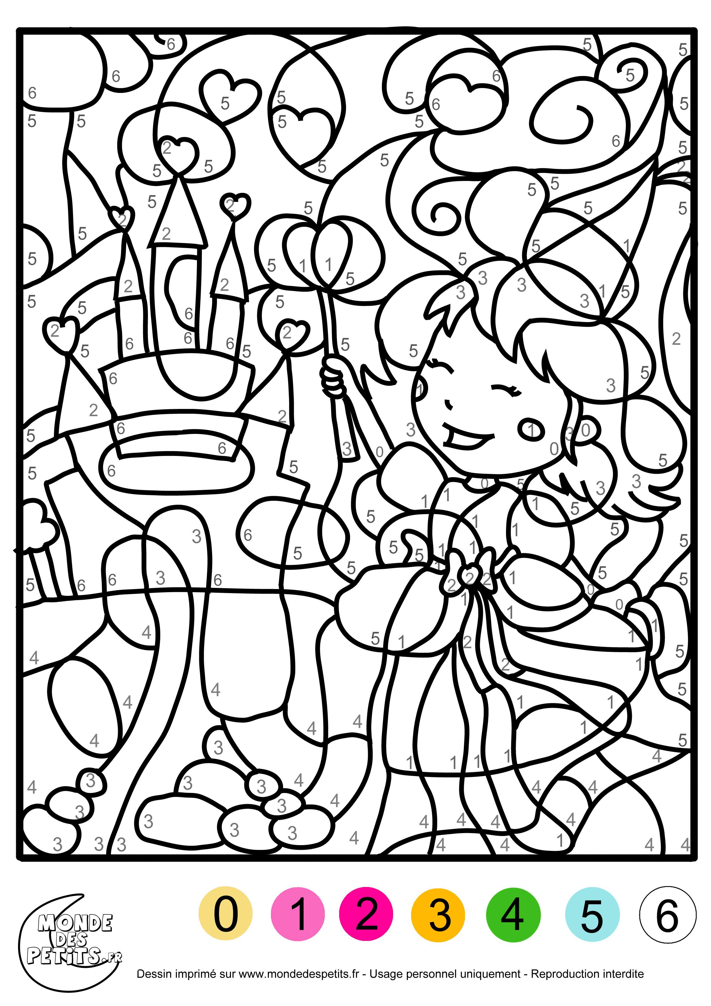 enfants Coloriage magique pour les filles