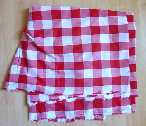 12 - Purchases, Red and White Gingham NEW FABRIC FAIR