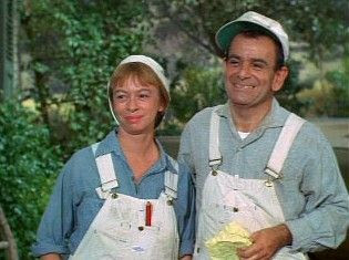 Mary Grace Canfield and Sid Melton