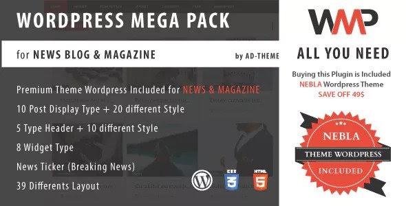 WP Mega Pack for News, Blog and Magazine v1.0