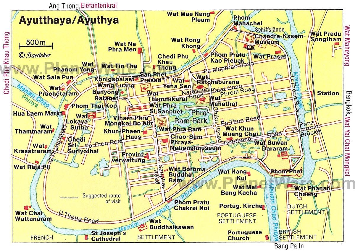 Resultado de imagen de ayutthaya map