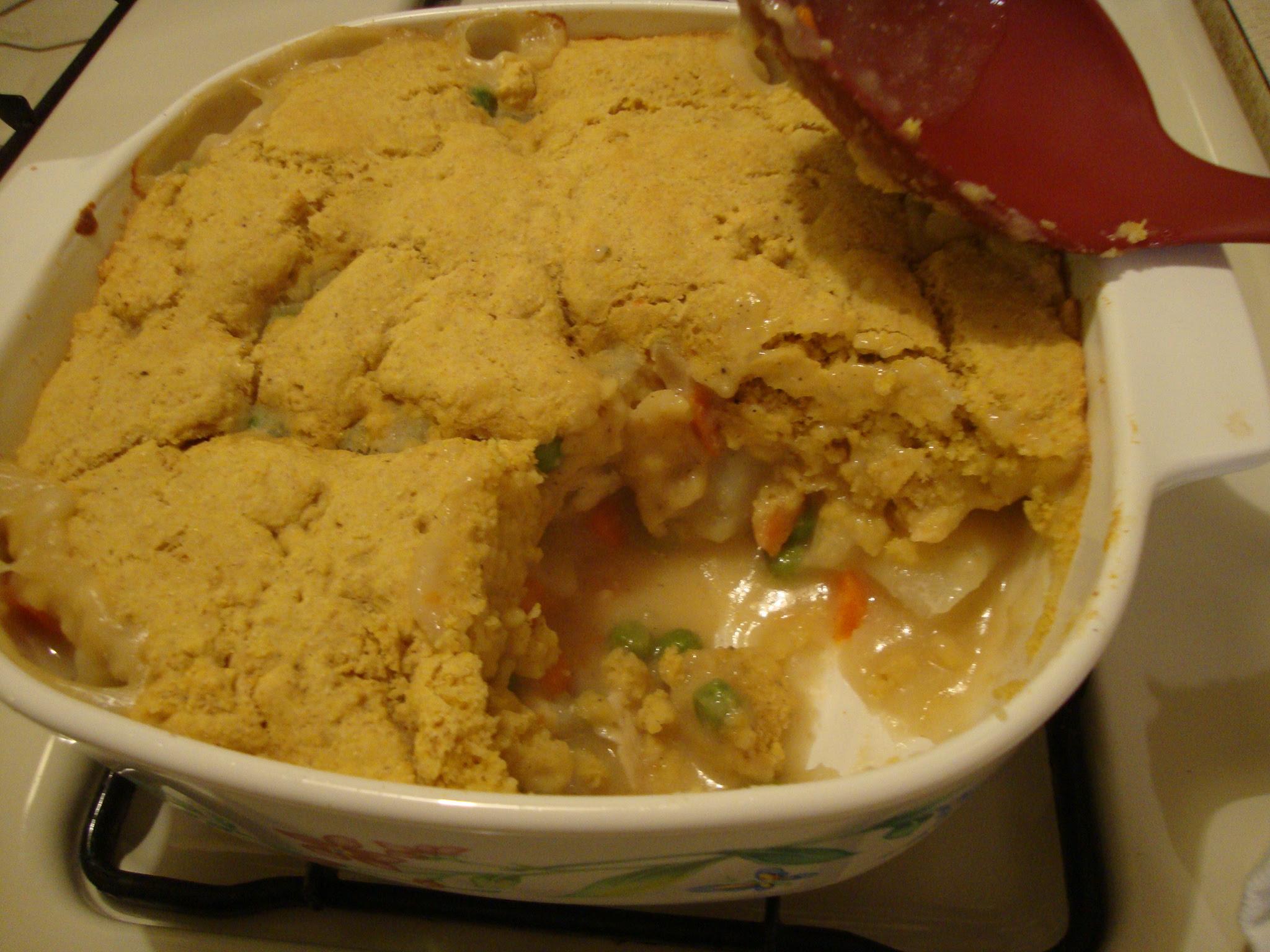 chicken pot pie totally from scratch