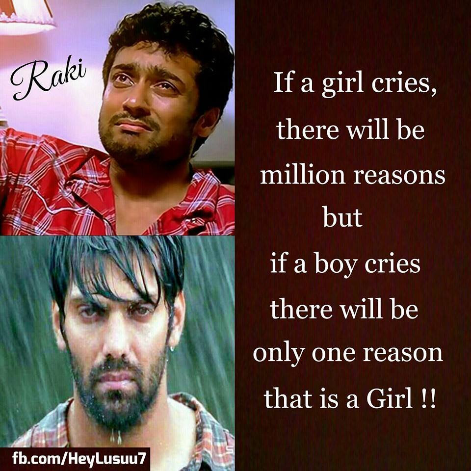 If A Girl Cries There Will Be Million Reasons