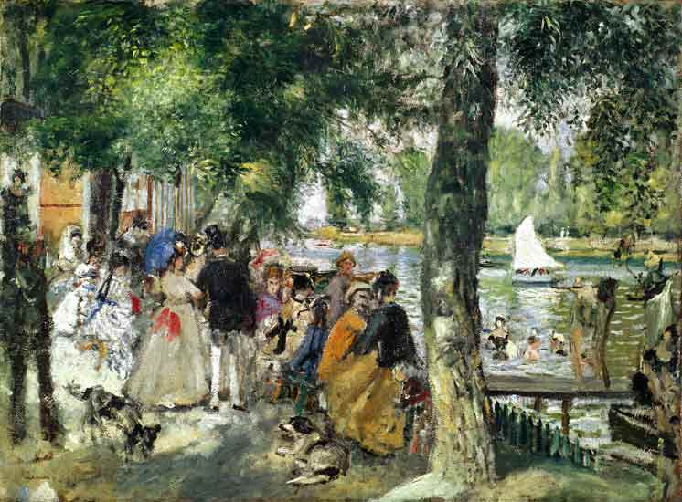 Pierre-Auguste Renoir - Bañándose en el Sena