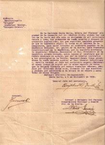 Revolución 21. Acta revolucionaria levantada en la Finca Santa Martha, Pichucalco en diciembre de 1923. Fuente Archivo de la Finca San Antonio El Cocal, Pichucalco, Chiapas